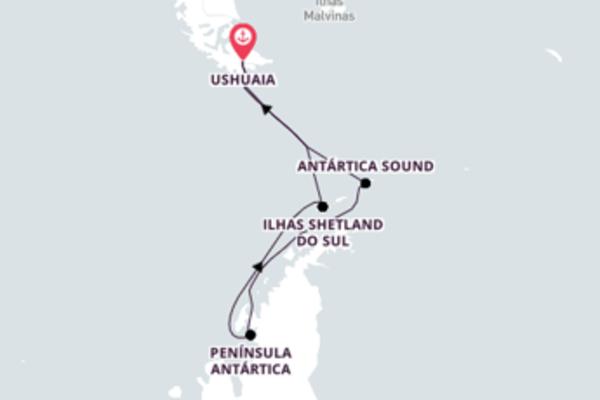 Esplêndido cruzeiro de 13 dias até Ushuaia