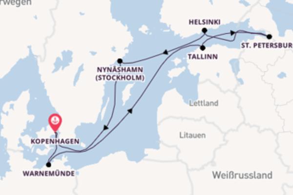 Begeisternde Kreuzfahrt über Warnemünde ab Kopenhagen