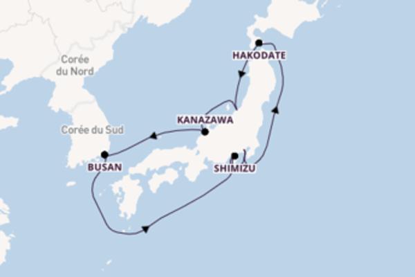 Croisière de 9 jours vers Yokohama avec MSC Croisières
