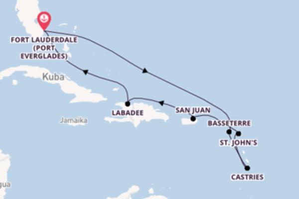 Fort Lauderdale (Port Everglades) und San Juan erleben