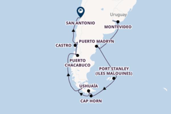 16 jours de navigation à bord du bateau Norwegian Star vers San Antonio