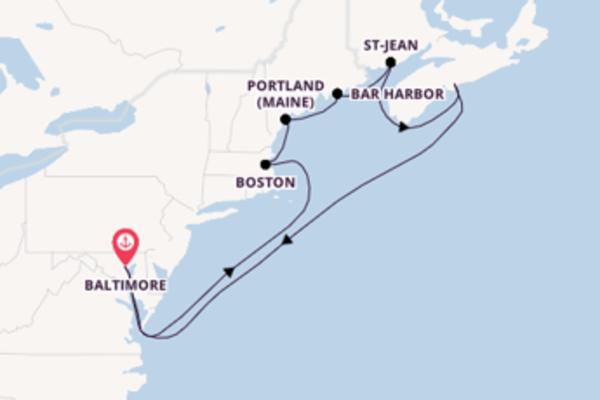 Boston et une charmante croisière depuis Baltimore