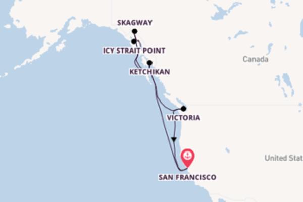 Geniet van het sprankelende Skagway met Carnival Cruise Line
