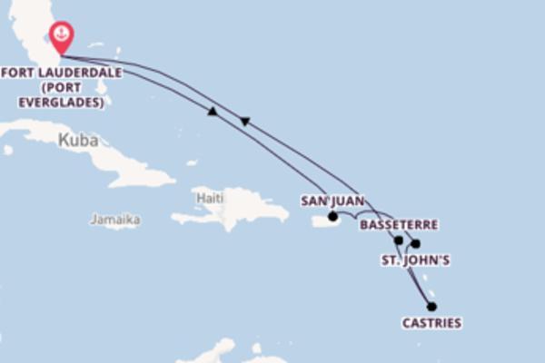 10-tägige Kreuzfahrt bis Fort Lauderdale (Port Everglades)