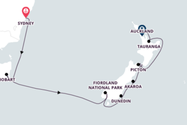 Delightful Voyage from Sydney to Auckland