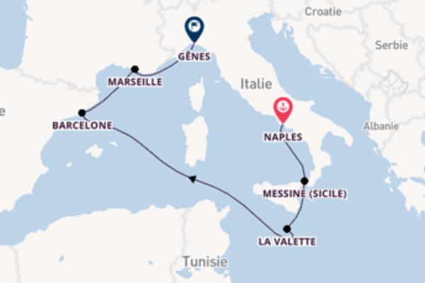 Croisière de 7 jours depuis Naples avec MSC Croisières