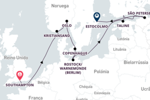 Fabuloso cruzeiro até Estocolmo
