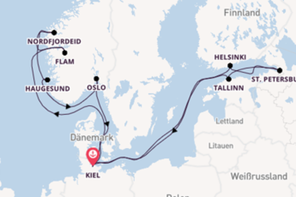 Von Kiel über Nordfjordeid in 15 Tagen