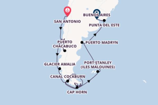 Croisière de 23 jours vers Buenos Aires avec Holland America Line