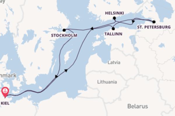 8 day expedition on board the MSC Preziosa from Kiel