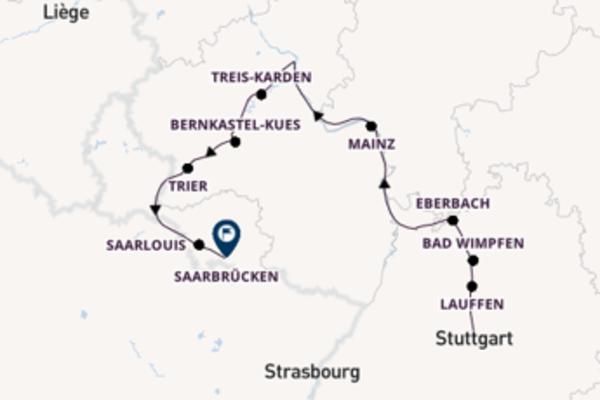 Entdecken Sie Stuttgart, Bad Wimpfen und Saarlouis