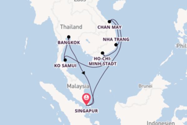 15 Tage Südostasien Kreuzfahrt