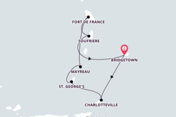 Von Bridgetown über St. George's in 8 Tagen
