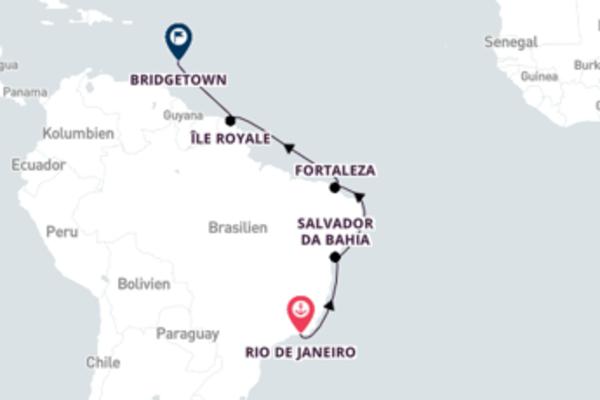 In 13 Tagen nach Bridgetown über Rio de Janeiro