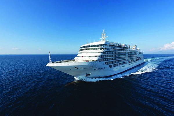 A bordo do Silver Muse em uma viagem de 19 dias