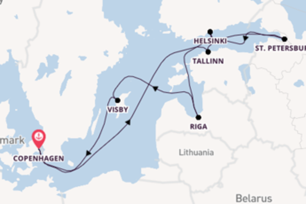 11 day cruise with the Adventure of the Seas to Copenhagen