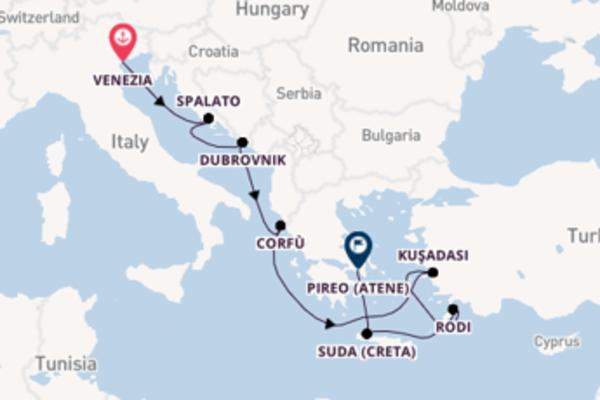 In rotta verso Pireo (Atene) da Venezia