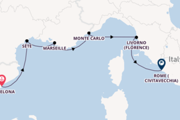 8 day journey from Barcelona
