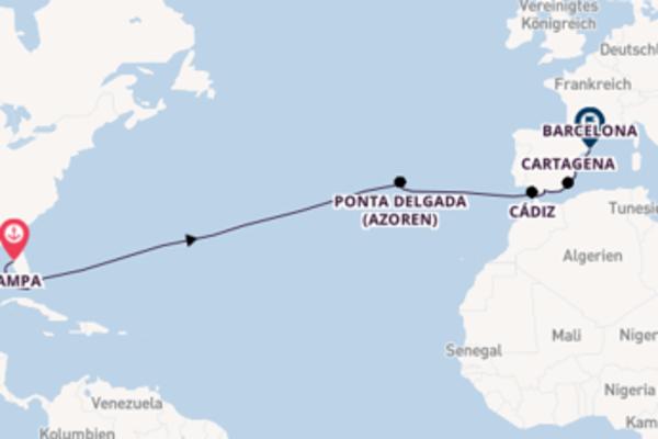 Außergewöhnliche Reise über Ponta Delgada (Azoren) in 16 Tagen