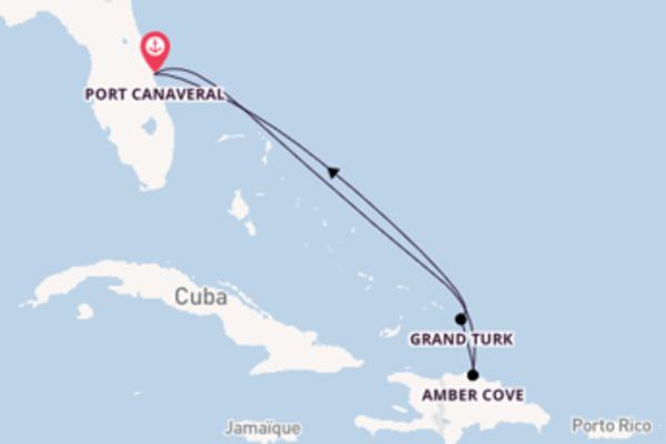 Inoubliable balade de 6 jours à bord du bateau Carnival Elation