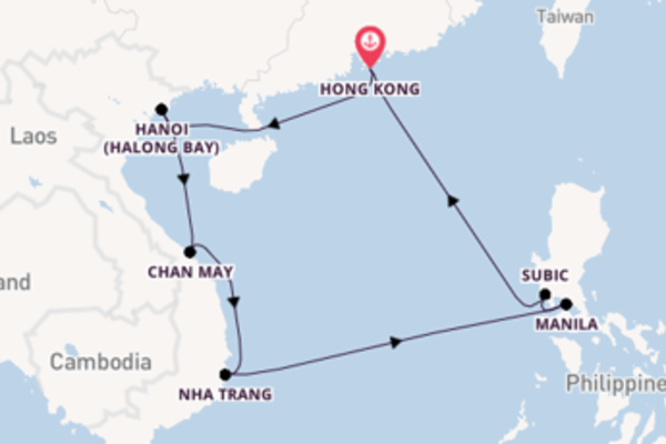 11 day cruise on board the Celebrity Solstice from Hong Kong