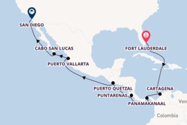 Ontdek Fort Lauderdale, Puntarenas en San Diego