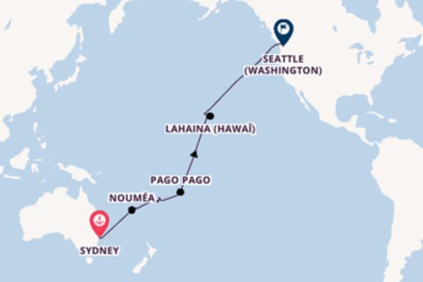 29 jours de navigation à bord du bateau Oosterdam depuis Sydney