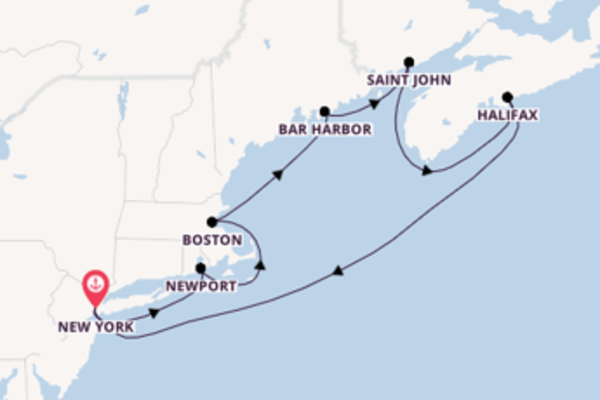 8 day cruise from New York