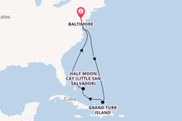 8 day journey from Baltimore, Maryland