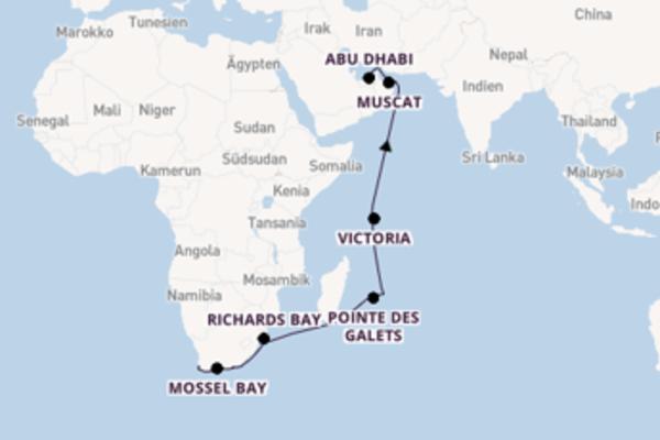 Kapstadt und Muscat bereisen