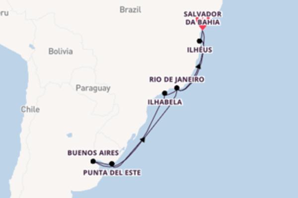 14-daagse cruise met het MSC Preziosa vanuit Salvador da Bahia