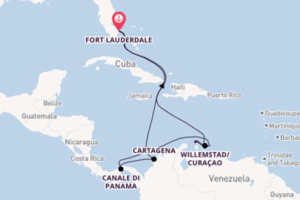 Fare rotta verso Oranjestad a bordo di Celebrity Edge