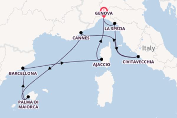 Fare rotta verso Barcellona a bordo di MSC Seaview