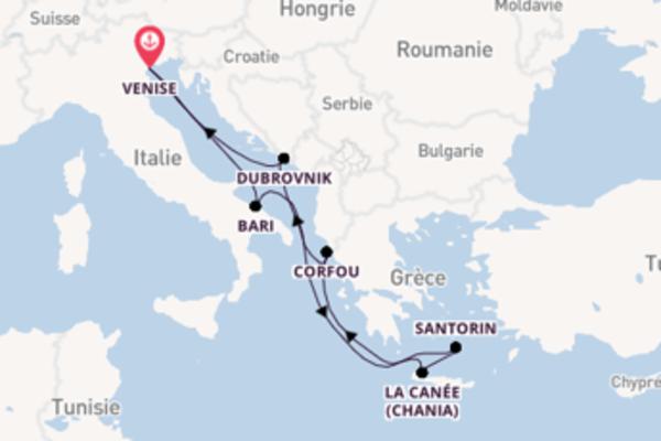 Magnifique croisière vers Venise via Santorin