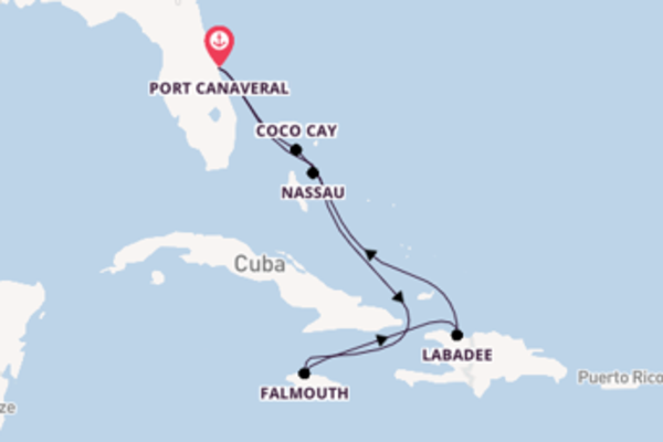 8 day journey from Port Canaveral