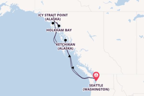 Incontournable balade de 8 jours au départ de Seattle (Washington)