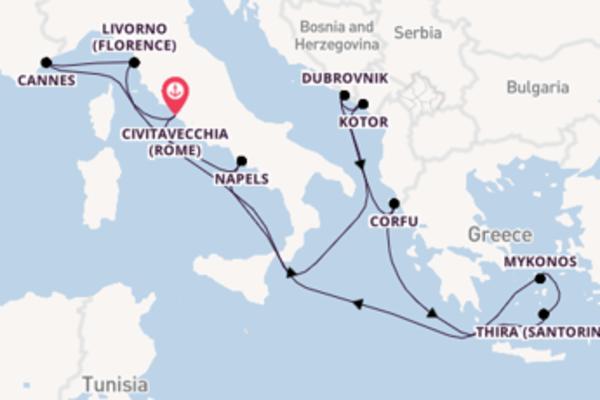 12-daagse reis naar Civitavecchia (Rome)