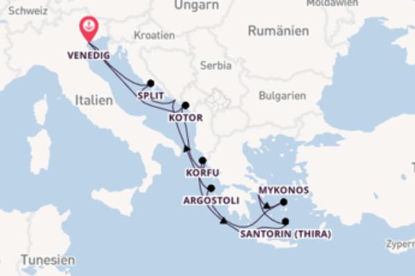 In 10 Tagen nach Venedig über Argostoli