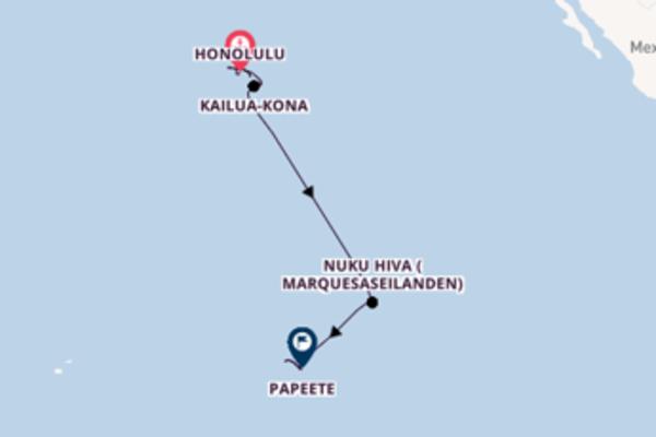 Cruise met Norwegian Cruise Line naar het pittoreske Papeete