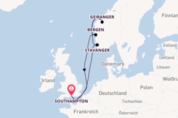 8 Tage Nordeuropa Kreuzfahrt