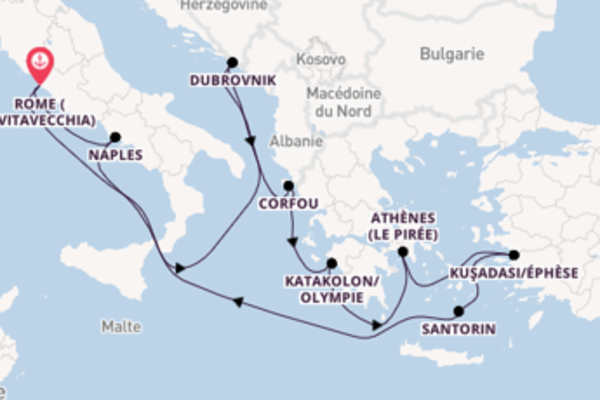 11 jours de navigation à bord du bateau Nieuw Statendam depuis Rome