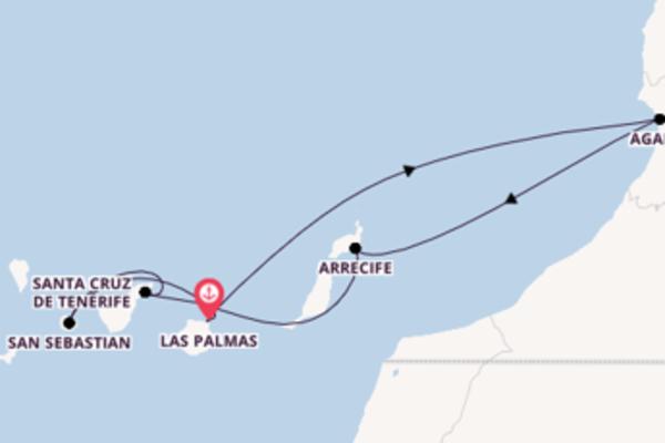 Cruise in 8 dagen naar Las Palmas, Gran Canaria met TUI Cruises
