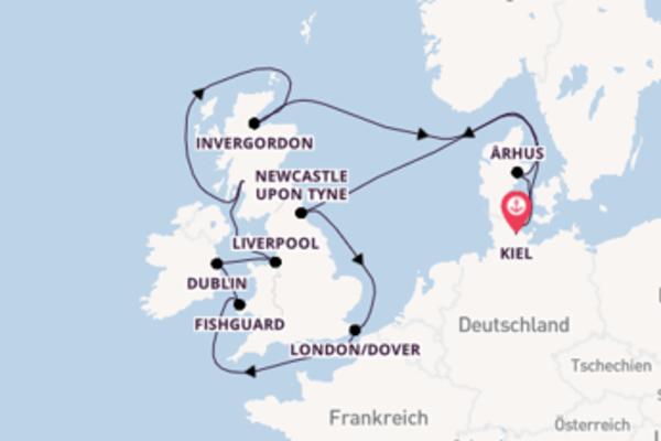 Erkunden Sie Dublin ab Kiel