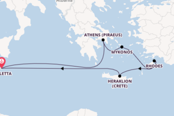 Expedition from Valletta with the Azura