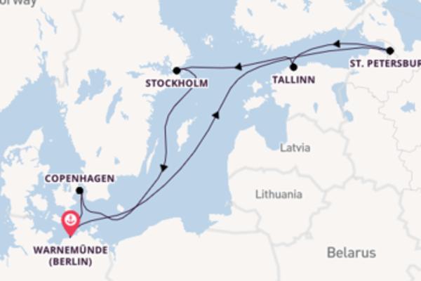 8 day trip on board the MSC Poesia from Warnemünde (Berlin)