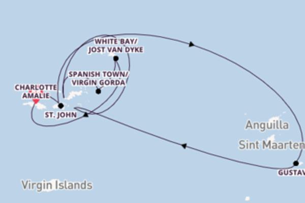 8-tägige Kreuzfahrt ab Charlotte Amalie