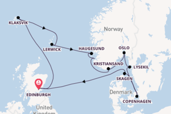 13 day expedition on board the Sirena from Edinburgh