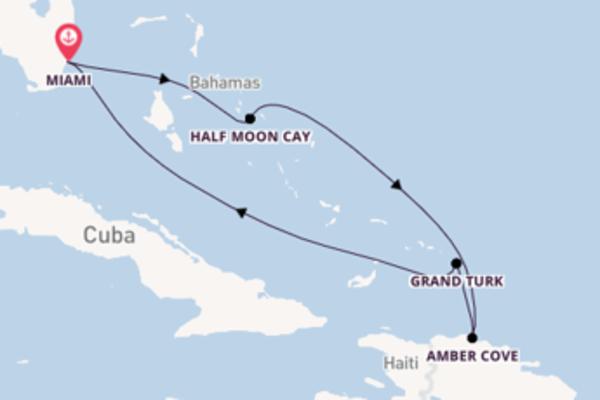 Passa per Half Moon Cay salpando da Miami