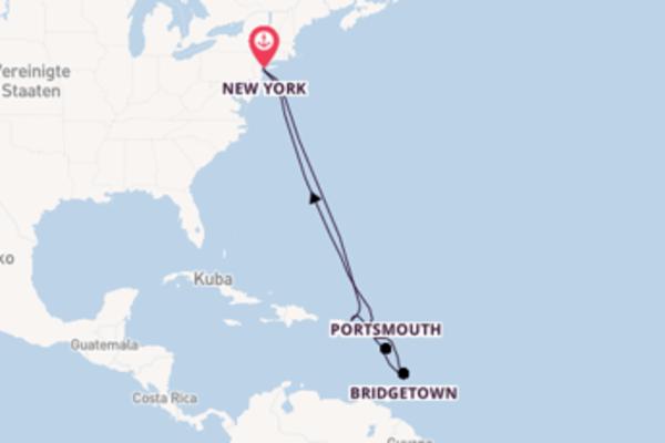 In 13 Tagen nach New York über Charlestown