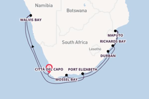 Crociera da Città del Capo verso Maputo